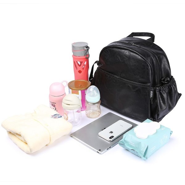 Fashion Maternity Nappy Changing Bag for Mother Black Large Capacity Fashion Diaper Bag with 2 Straps 3 Fashion Maternity Nappy Changing Bag for Mother Black Large Capacity Fashion Diaper Bag with 2 Straps Travel Backpack for Baby