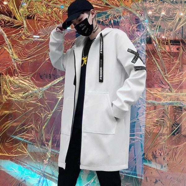 Long Jacket Men Print Fashion 2019 Spring Harajuku Windbreaker Overcoat Male Casual Outwear Hip Hop Streetwear 3 Long Jacket Men Print Fashion 2019 Spring Harajuku Windbreaker Overcoat Male Casual Outwear Hip Hop Streetwear Coats WG198