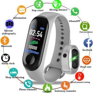 M3 Smart Sport Bracelet Wristband Blood Pressure Heart Rate Monitor Pedometer Smart Watch Women men kids Innrech Market.com