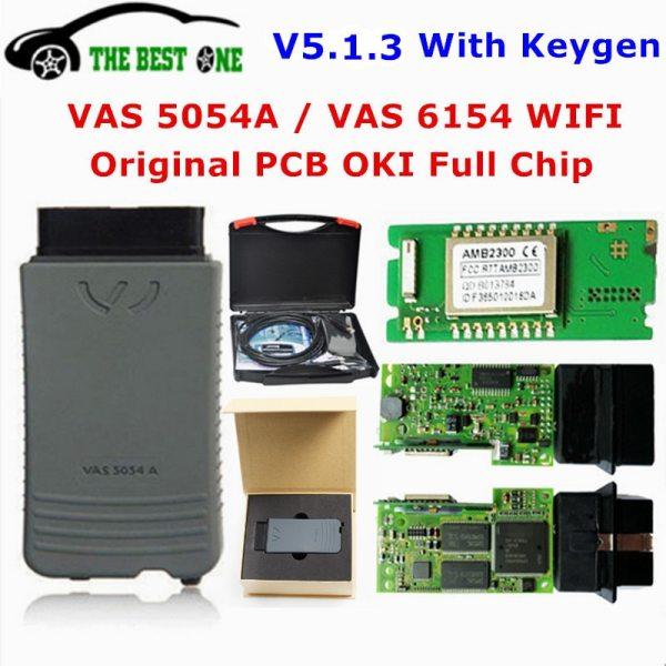 Original OKI VAS 5054A ODIS 5 1 3 Bluetooth AMB2300 VAS 6154 WIFI VAS5054A Full Chip Original OKI VAS 5054A ODIS 5.1.3 Bluetooth AMB2300 VAS 6154 WIFI VAS5054A Full Chip VAS5054 UDS VAS6154 For VAG Diagnostic Tool