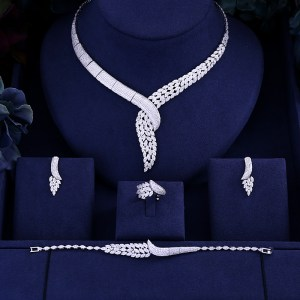jankelly Hotsale African 4pcs Bridal Jewelry Sets New Fashion Dubai Jewelry Set For Women Wedding Party Innrech Market.com