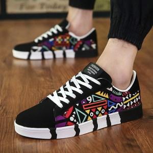 2019 New Men Shoes Men Casual Canvas Shoes Fashion Lightweight Lace Up Sneakers Summer Breathable Men Innrech Market.com