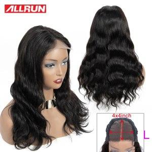 Allrun 4 4 Lace Closure Wigs With Baby Hair Brazilian Body Wave Lace Human Hair Wigs Innrech Market.com