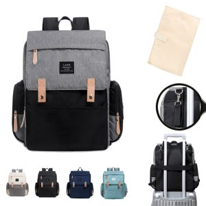 LAND Mommy Diaper Bags Landuo Mother Large Capacity Travel Nappy Backpacks with changing mat Convenient Baby Innrech Market.com
