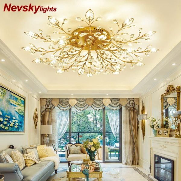 Modern ceiling light for living room led Crystal ceiling lamp bedroom crystal lamps dining gold loft Modern ceiling light for living room led Crystal ceiling lamp bedroom crystal lamps dining gold loft lighting Crystal Fixtures