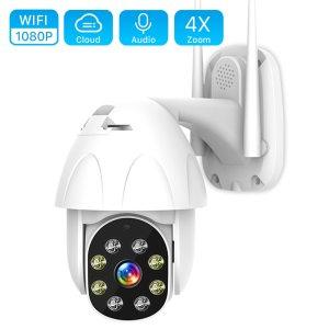 1080P PTZ WIFI Camera 2MP Auto Tracking Waterproof CCTV Home Security IP Camera 4 0X Digital Innrech Market.com