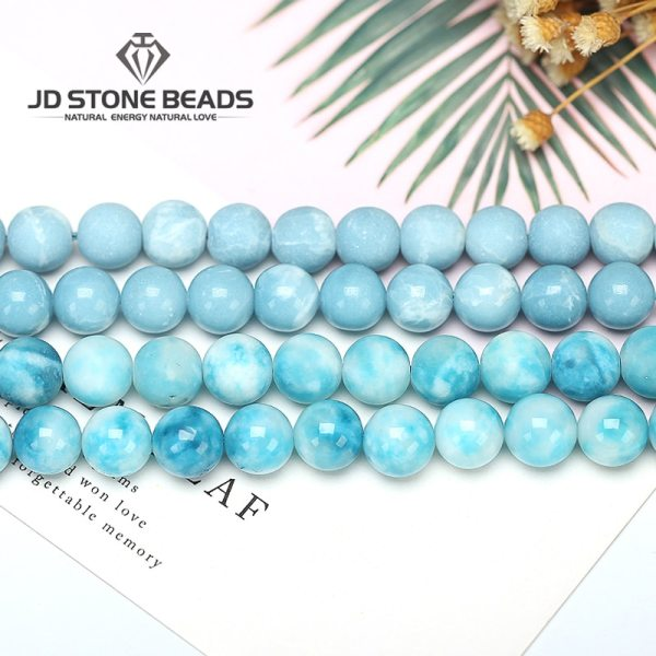 6 8 10 12MM Larimar gemstone Round Loose beads Matte Ocean Sea stone bracelet necklace for 6 8 10 12MM Larimar gemstone Round Loose beads Matte Ocean Sea stone bracelet necklace for jewelry Making