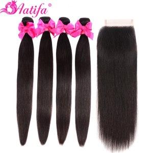 Aatifa Brazilian Straight Hair Bundles With Closure Human Hair Bundles With Closure Remy Bundles With Closure Innrech Market.com