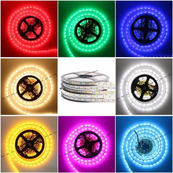 BEILAI SMD 5050 RGB LED Strip Waterproof 5M 300LED DC 12V RGBW RGBWW Fita LED Light 2 BEILAI SMD 5050 RGB LED Strip Waterproof 5M 300LED DC 12V RGBW RGBWW Fita LED Light Strips Flexible Neon Tape Luz Monochrome
