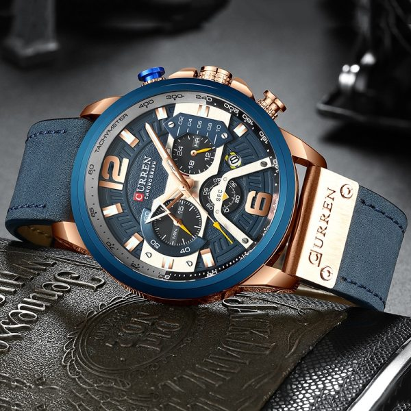 CURREN Luxury Brand Men Analog Leather Sports Watches Men s Army Military Watch Male Date Quartz 3 CURREN Luxury Brand Men Analog Leather Sports Watches Men's Army Military Watch Male Date Quartz Clock Relogio Masculino 2019