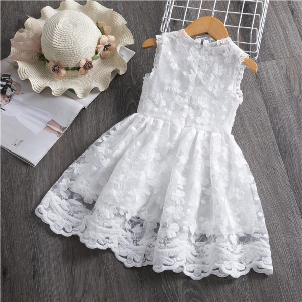 Girls Dress 2019 New Summer Brand Girls Clothes Lace And Ball Design Baby Girls Dress Party 2 Girls Dress 2019 New Summer Brand Girls Clothes Lace And Ball Design Baby Girls Dress Party Dress For 3-8 Years Infant Dresses