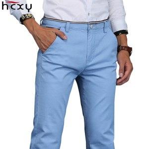 HCXY 2019 Men Pants Cotton warm Straight Trousers autumn and winter Men s Plus velvet Casual Innrech Market.com