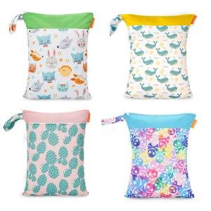 HappyFlute Baby Diaper Bags Double Zippered Wet Dry Bag Waterproof Wet Cloth Diaper Backpack Reusable Diaper Innrech Market.com