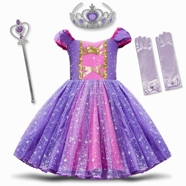 Infant Baby Girls Rapunzel Sofia Princess Costume Halloween Cosplay Clothes Toddler Party Role play Kids Fancy Infant Baby Girls Rapunzel Sofia Princess Costume Halloween Cosplay Clothes Toddler Party Role-play Kids Fancy Dresses For Girls