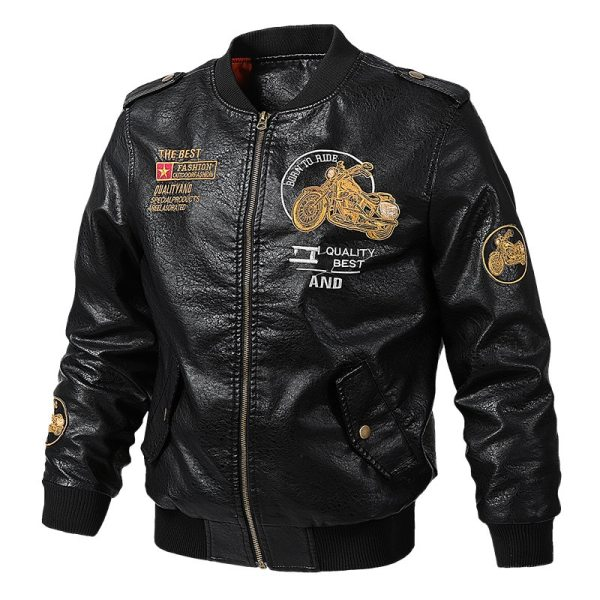 Men s Leather Jackets and Coats Male Motorcycle Leather Jacket Casual Slim Brand Clothing V Neck 2 Men's Leather Jackets and Coats Male Motorcycle Leather Jacket Casual Slim Brand Clothing V-Neck Collar Coats