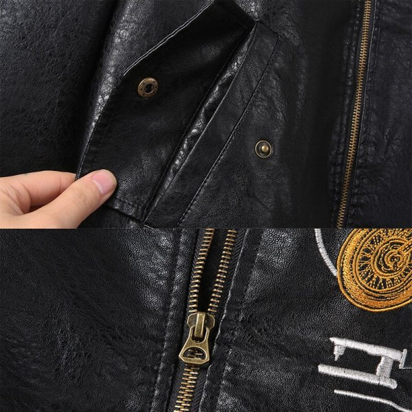Men s Leather Jackets and Coats Male Motorcycle Leather Jacket Casual Slim Brand Clothing V Neck 5 Men's Leather Jackets and Coats Male Motorcycle Leather Jacket Casual Slim Brand Clothing V-Neck Collar Coats