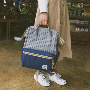 Patchwork Backpack Striped Bags for Women 2019 New Backpack Large Capacity Waterproof Backpacks Travel Bags Girls Innrech Market.com