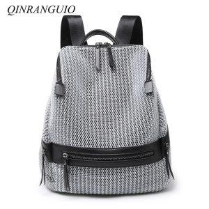 QINRANGUIO Nylon Backpack Women 2019 Fashion Women Backpack Large Capacity School Bags for Teenage Girls School Innrech Market.com