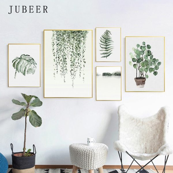 Scandinavian Style Tropical Plants Poster Green Leaves Decorative Picture Modern Wall Art Paintings for Living Room 1 Scandinavian Style Tropical Plants Poster Green Leaves Decorative Picture Modern Wall Art Paintings for Living Room Home Decor
