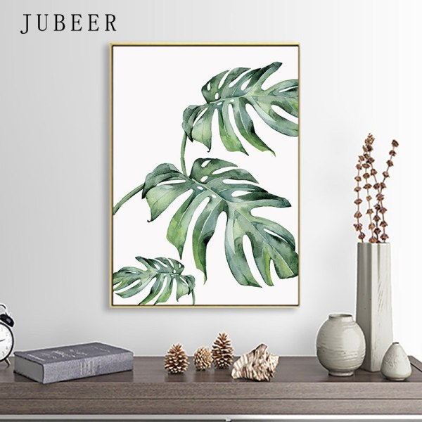 Scandinavian Style Tropical Plants Poster Green Leaves Decorative Picture Modern Wall Art Paintings for Living Room 4 Scandinavian Style Tropical Plants Poster Green Leaves Decorative Picture Modern Wall Art Paintings for Living Room Home Decor