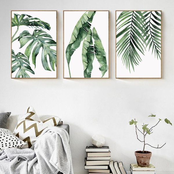 Watercolor Plant Green Leaves Canvas Painting Art Print Poster Picture Wall Modern Minimalist Bedroom Living Room 1 Watercolor Plant Green Leaves Canvas Painting Art Print Poster Picture Wall Modern Minimalist Bedroom Living Room Decoration