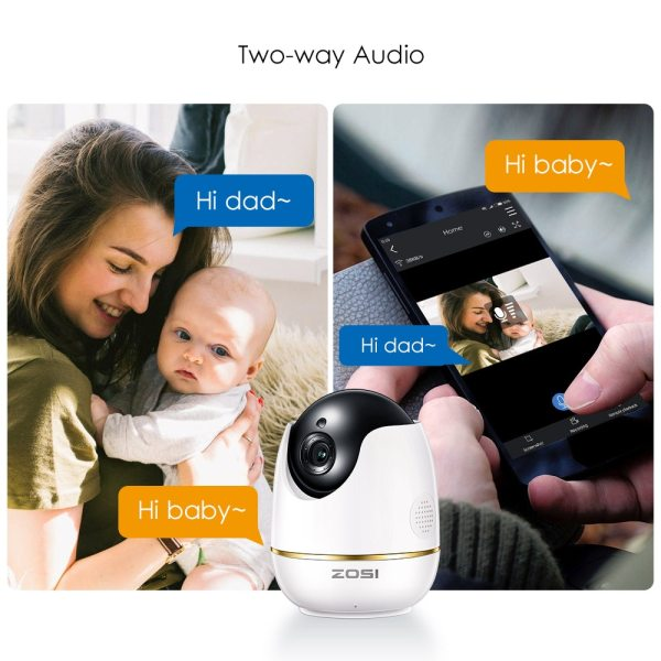 ZOSI 1080P HD Wifi Wireless Home Security IP Camera 2 0MP IR Network CCTV Surveillance Camera 2 ZOSI 1080P HD Wifi Wireless Home Security IP Camera 2.0MP IR Network CCTV Surveillance Camera with Two-way Audio Baby Monitor