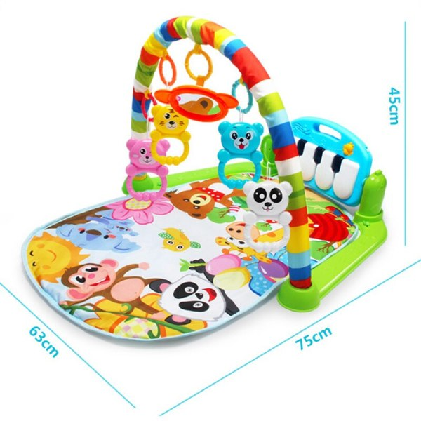3 in 1 Baby Play Mat Rug Toys Kid Crawling Music Play Game Developing Mat with 3 in 1 Baby Play Mat Rug Toys Kid Crawling Music Play Game Developing Mat with Piano Keyboard Infant Carpet Education Rack Toy
