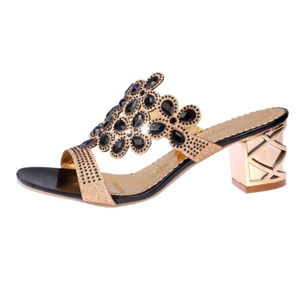 Designer Sandals Women 2018 Ladies Slides Women Slippers Sandals Summer Crystal Shoes Peep Toe Middle Heels 5 Designer Sandals Women 2018 Ladies Slides Women Slippers Sandals Summer Crystal Shoes Peep Toe Middle Heels Zapatos Mujer