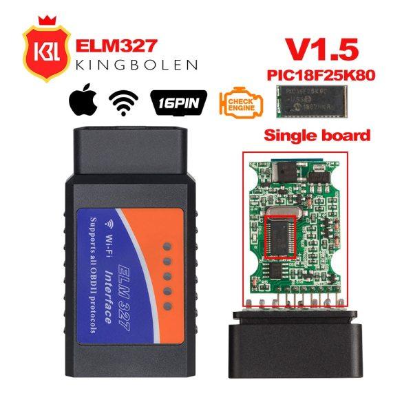 ELM327 V1 5 Bluetooth Wifi OBD2 V1 5 Mini Elm 327 Bluetooth PIC18F25K80 Chip Auto Diagnostic ELM327 V1.5 Bluetooth/Wifi OBD2 V1.5 Mini Elm 327 Bluetooth PIC18F25K80 Chip Auto Diagnostic Tool OBDII for Android/IOS/Windows