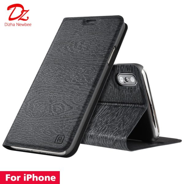 For iphone XR X XS MAX 10 6 6s 7 8 Plus Leather Case for Apple For iphone XR X XS MAX 10 6 6s 7 8 Plus Leather Case for Apple iphone 5 5s SE PU Flip cover card slot stand