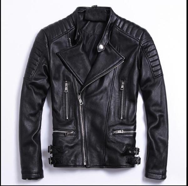 Free shipping moto biker style Plus size Brand soft sheepskin leather Jackets mens genuine Leather jacket Moto biker style,Plus size Brand soft sheepskin leather Jackets,mens genuine Leather jacket, motorbiker slim coat