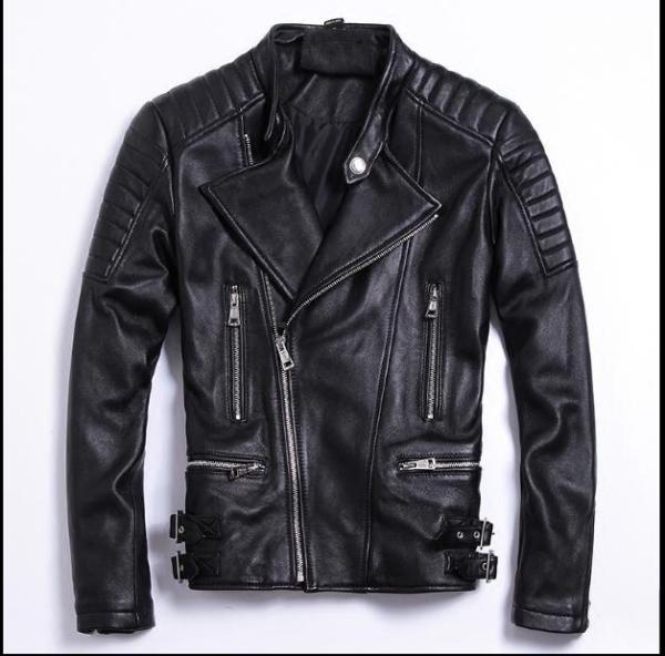 Free shipping moto biker style Plus size Brand soft sheepskin leather Jackets mens genuine Leather jacket Moto biker style,Plus size Brand soft sheepskin leather Jackets,mens genuine Leather jacket, motorbiker slim coat