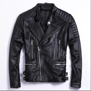 Free shipping moto biker style Plus size Brand soft sheepskin leather Jackets mens genuine Leather jacket Innrech Market.com