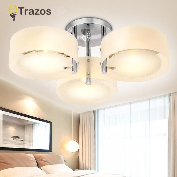 NEW 2019 Modern Ceiling Lights modern fashionable design dining room lamp pendente de teto de cristal 2 NEW 2019 Modern Ceiling Lights modern fashionable design dining room lamp pendente de teto de cristal white shade acrylic lustre