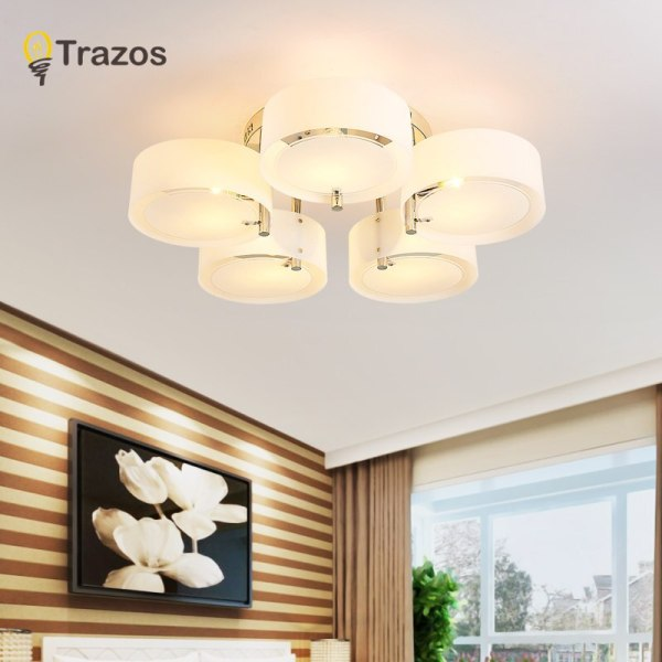 NEW 2019 Modern Ceiling Lights modern fashionable design dining room lamp pendente de teto de cristal 4 NEW 2019 Modern Ceiling Lights modern fashionable design dining room lamp pendente de teto de cristal white shade acrylic lustre