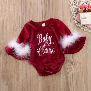 Pudcoco 2017 New Pleuche Christmas Baby Girls Romper long sleeves infant newborn baby jumpsuit princess plush Innrech Market.com