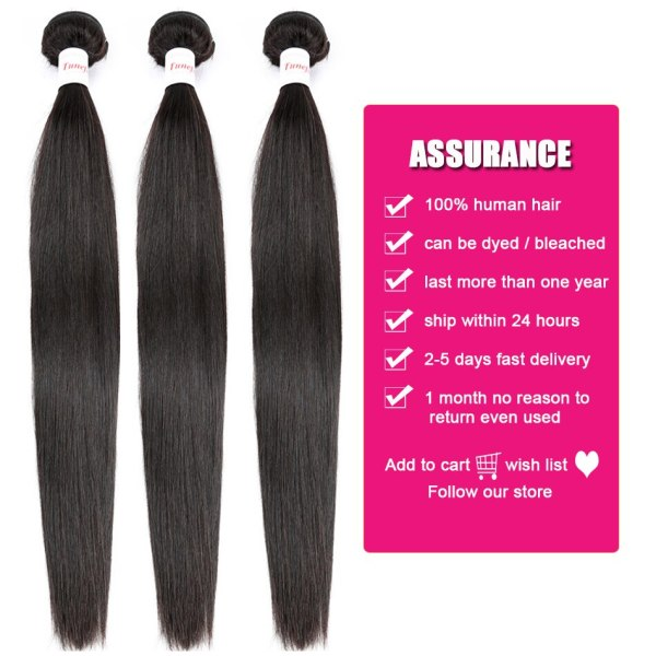 Straight Human Hair 3 Bundles With Closure Tuneful 100 Remy Hair Weft Weave Extensions Brazilian Hair Straight Human Hair 3 Bundles With Closure Tuneful 100% Remy Hair Weft Weave Extensions Brazilian Hair Bundles With Closure