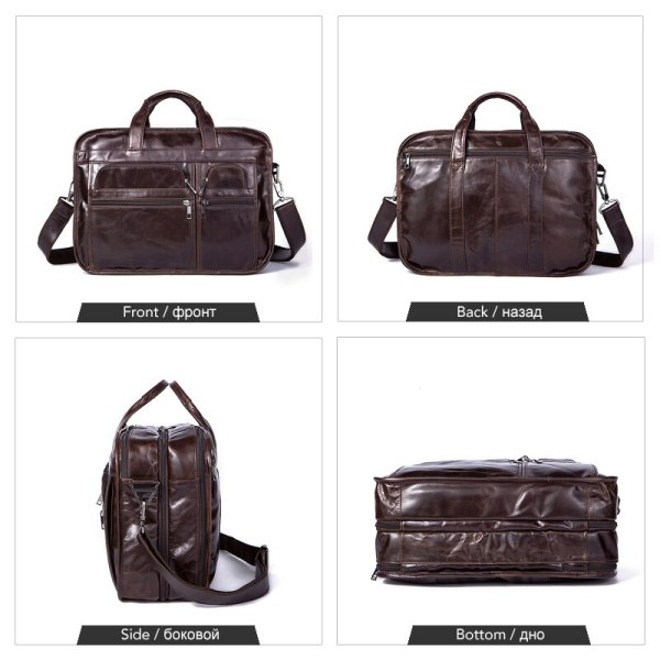WESTAL men s genuine leather bag for men s briefcase office bags for men leather laptop 4 WESTAL men's genuine leather bag for men's briefcase office bags for men leather laptop bag document business briefcase handbag