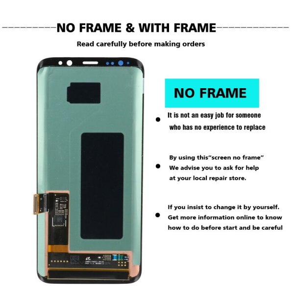 original S8 S8plus Display Screen for SAMSUNG Galaxy S8 Screen Replacement LCD Touch Digitizer Assembly G950F 1 original S8 S8plus Display Screen for SAMSUNG Galaxy S8 Screen Replacement LCD Touch Digitizer Assembly G950F G955 with FRAME