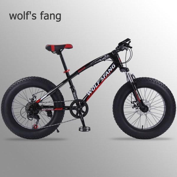 "wolf s fang bicycle mountain bike 7 21 speed 2 0 X 4 0 bicycle Road wolf's fang bicycle mountain bike 7 /21 speed 2.0""X 4.0""bicycle Road bike fat bike Disc Brake Women and children"