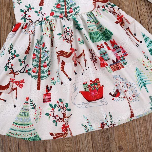 1 7Years Christmas Dress Kids Baby Girl Deer Sleeveless Party Dress Princess Tutu Dress Xmas New 4 1-7Years Christmas Dress Kids Baby Girl Deer Sleeveless Party Dress Princess Tutu Dress Xmas New Fashion Clothing