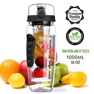 1L Portable water bottle Tritan Drinkware Bottle Fruit Infuser Bottle Juice Shaker travel Sport Water Bottle Innrech Market.com