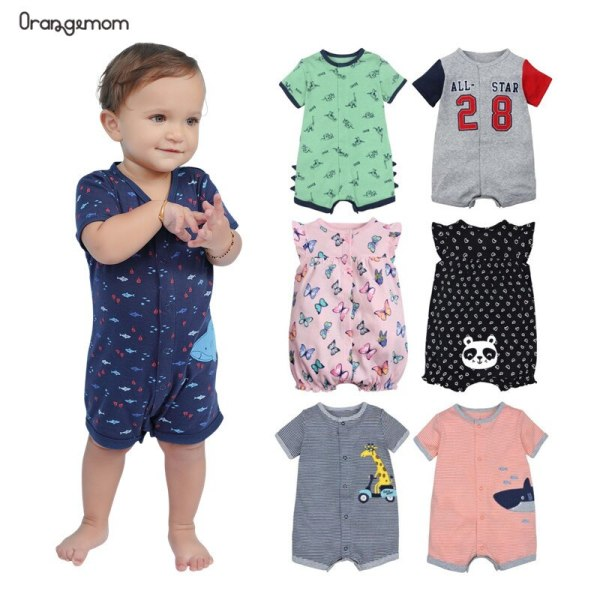 2019 official store Summer boys baby clothing Short Sleeved Jumpsuit Newborn Romper Baby Boy Clothes infant 2019 official store Summer boys baby clothing Short Sleeved Jumpsuit Newborn Romper Baby Boy Clothes infant roupas  Baby Rompers