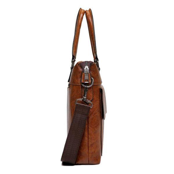 Famous Designer JEEP BULUO Brands Men Business Briefcase PU Leather Shoulder Bags For 13 Inch Laptop 2 Famous Designer JEEP BULUO Brands Men Business Briefcase PU Leather Shoulder Bags For 13 Inch Laptop Bag big Travel Handbag 6013