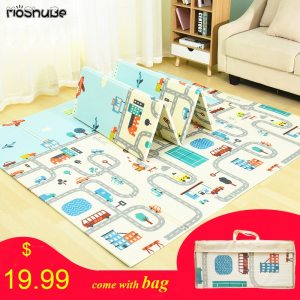 Foldable Baby Play Mat Xpe Puzzle Mat Educational Children s Carpet in the Nursery Climbing Pad Innrech Market.com