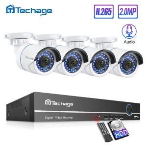 H 265 8CH 1080P POE NVR Kit CCTV System Up To 16CH NVR 2MP Audio IP Innrech Market.com