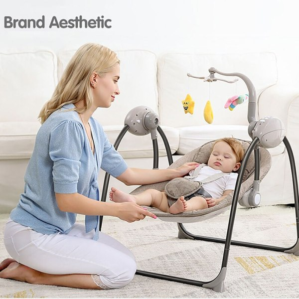 IMBABY Baby Rocking Chair Baby Swing Electric Baby Cradle With Remote Control Cradle Rocking Chair For 5 IMBABY Baby Rocking Chair Baby Swing Electric Baby Cradle With Remote Control Cradle  Rocking Chair For Newborns Swing Chair