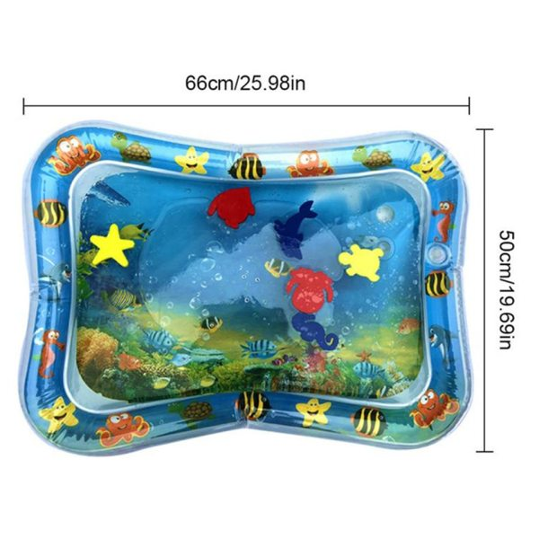 Inflatable Baby Water Mat Infant Tummy Time Playmat Toddler Fun Activity Play Center for Sensory Stimulation 2 Inflatable Baby Water Mat Infant Tummy Time Playmat Toddler Fun Activity Play Center for Sensory Stimulation, Motor Skills