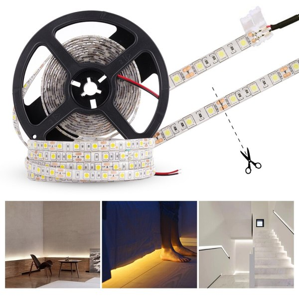 LUCKYLED 5M LED Strip 12v RGB Waterproof 5050 2835 SMD Diode RGB Tape Ribbon Flexible LED 2 LUCKYLED 5M LED Strip 12v RGB Waterproof 5050 2835 SMD Diode RGB Tape Ribbon Flexible LED Light Strip 60leds/m LED Stripe