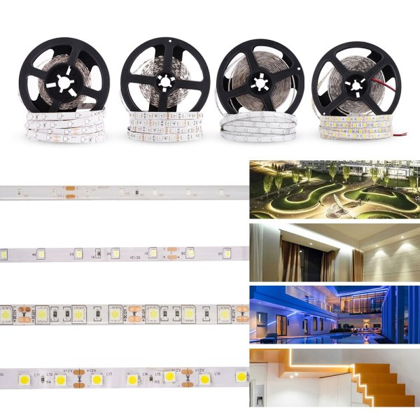 LUCKYLED 5M LED Strip 12v RGB Waterproof 5050 2835 SMD Diode RGB Tape Ribbon Flexible LED LUCKYLED 5M LED Strip 12v RGB Waterproof 5050 2835 SMD Diode RGB Tape Ribbon Flexible LED Light Strip 60leds/m LED Stripe